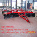 Wing folded hydraulic disc harrow