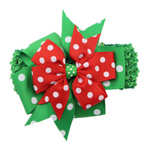 Hot sell colorful Sweet Boutique Bows Wholesale Christmas Baby Girl Headbands