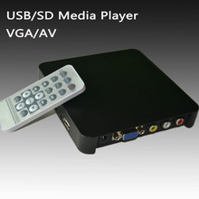 hot digital media player component output ,vga ,av out ,usb /sd card slot