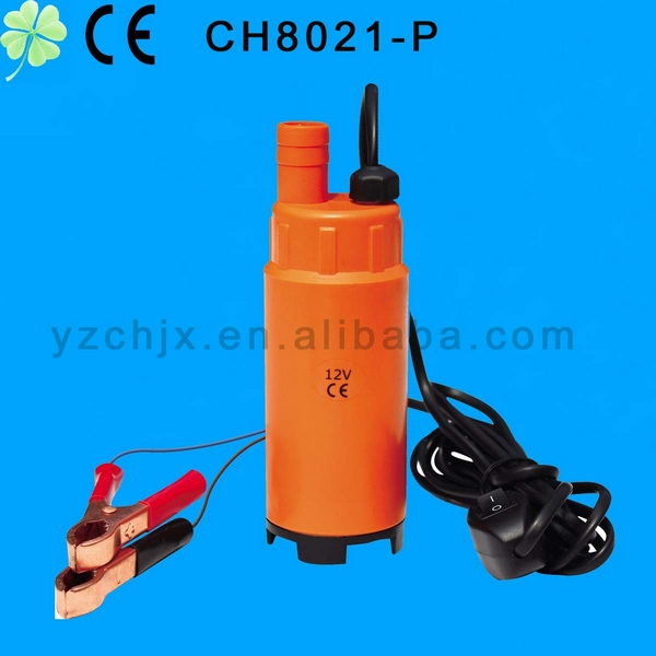 CE certification 12V/24V submersible diesel pump with Plastic/stainless steel /aluminum