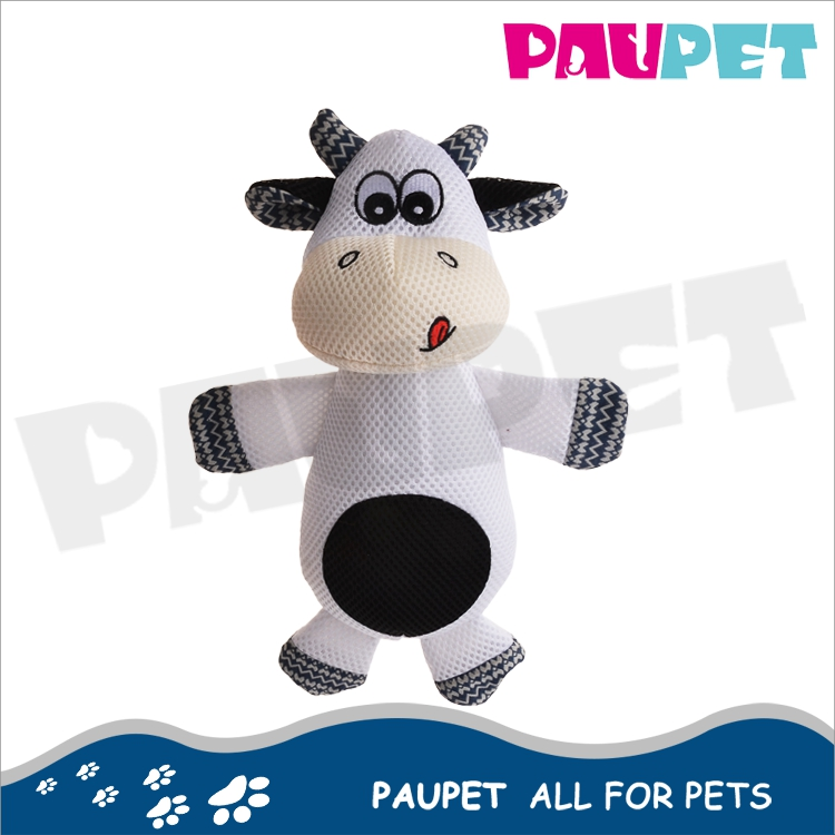 2017 Best sale big eyes dog plush animated plush cow dog pet toy