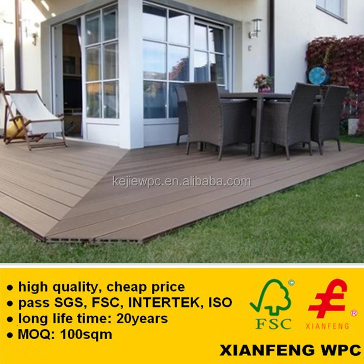 Good Price Wood Plastic Composite Decking Boards Eco Friendly Exterior Fireproof WPC Flooring