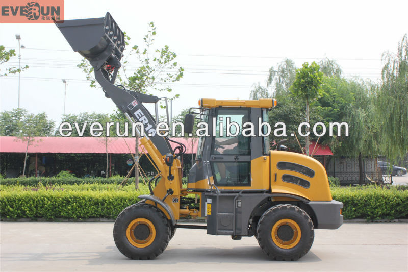 High Quality Qingdao Everun Hot Selling ER16 small Wheel Loader with Electric Mini Dumper
