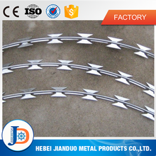 electro/hot dipped galvanized concertina razor wire/razor barbed wire from factory