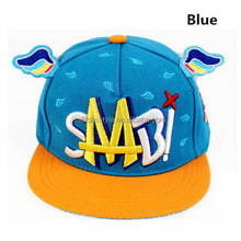 Retail Unisex Children Baseball Caps, Angel wings Kids Boy Girl Summer Net Baseball Hats