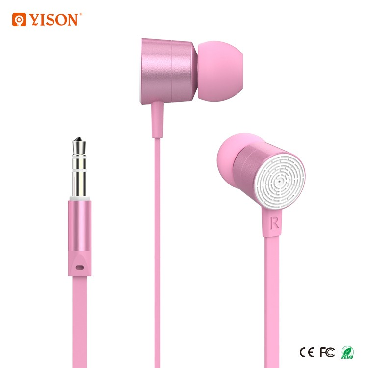 Yison Consumer Electronic Flat Noodle Earphone With Wired For Mobile Phone MP3 And MP4
