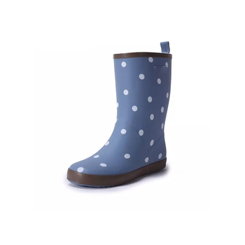 usa boys wellington boot nude rubber rain teen spotty kids rain boots