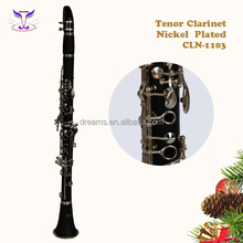 17 Key clarinet gold lacquer clarinet, wood composite clarinet