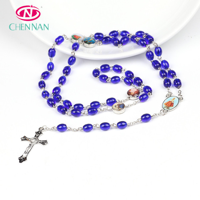 Factory wholesale latest fashion luxury crystal prayer beads Chrisian rosary