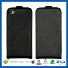 2014 Leather smartphone transparent flip case for iphone 5 5s