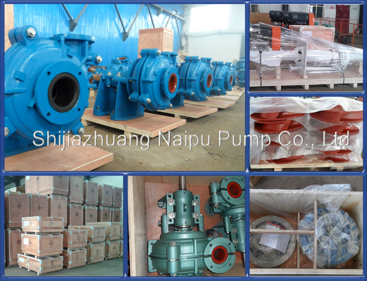 M series single stage horizontal centrifugal wear resisting industrial slurry pump