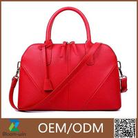 New arrived fashion wholesale cowhide leather handbag for lady