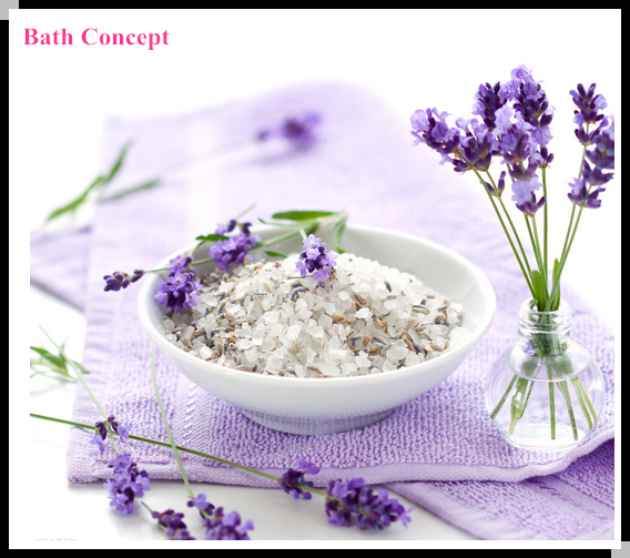 Aromatherapy lavender crystal bath salts for spa