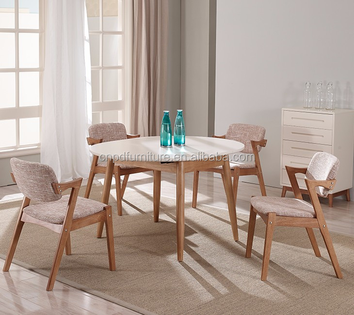 Latest design modern solid wood dining table and chairs da9033