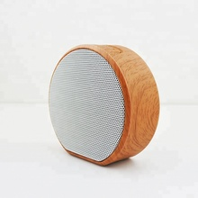 LED smart wood portable mini wireless speaker, trolley car waterproof rechargeable speaker loud music usb speaker