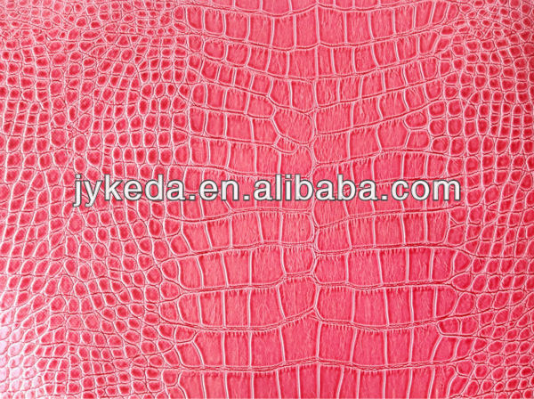 PVC leather for ladie's bag/Crocodile pattern/Highshining imitation leather