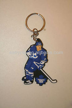 TORONTO MAPLE LEAFS HOCKEY FIGURE KEYCHAIN NEW