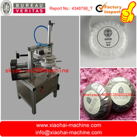 Newest designed semi automatic round soap pleat type wrapping machine