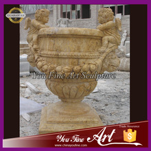 Big decorative antique flower pot with angels for sale