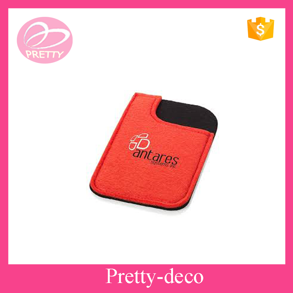 4.7inch polyester embroidery mobile phone pouch in felt