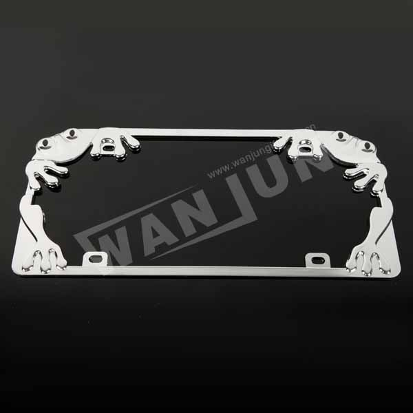 customized unique style zinc alloy license plate frame