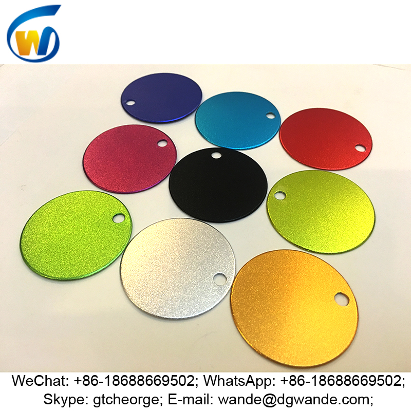 satin finish custom colorful anodized aluminum coin blanks, anodized aluminum discs