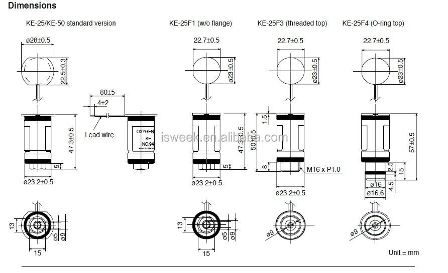 medical oxygen sensor ke-25f3