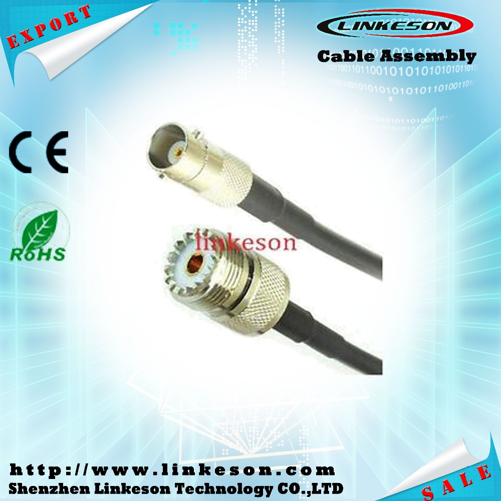 BNC female to UHF female straight connector for RG58 cable