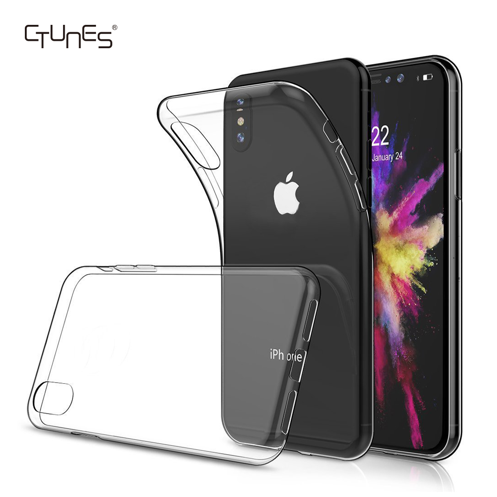 Soft TPU Shockproof Clear Transparent Cover Case For <strong>iPhone</strong> X