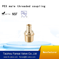 "Chinese manufacturer lead free copper cUPC forged 3/4""PEX* male thread PT brass coupling adapter fitting"