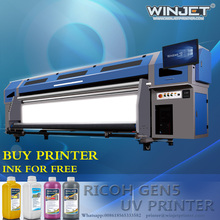 business industrial ricoh printer machine 3.2m size uv ink for ricoh gen5 high precision Flatbed Uv Printer