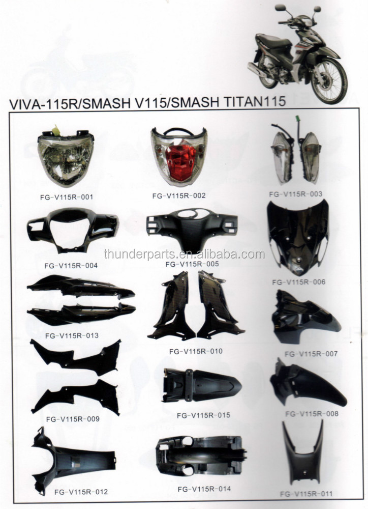 Motorcycle body parts for SMASH V115