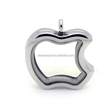 Apple Shape Stainless Steel Memory Floating Charms Locket