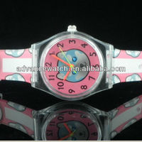 promotional kids cell phone watch, cute bear drawing covering watch, passionate style for children