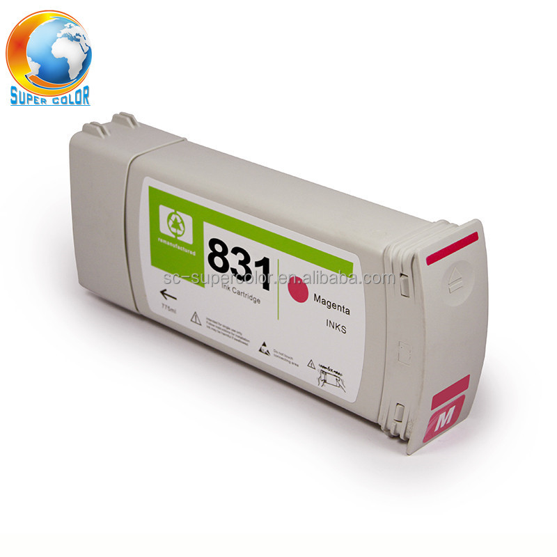 Supercolor 775ML For HP 831 Latex Compatible Original Ink Cartridge With Full Genuine Latex Ink For HP Latex 310 330 360 Printer