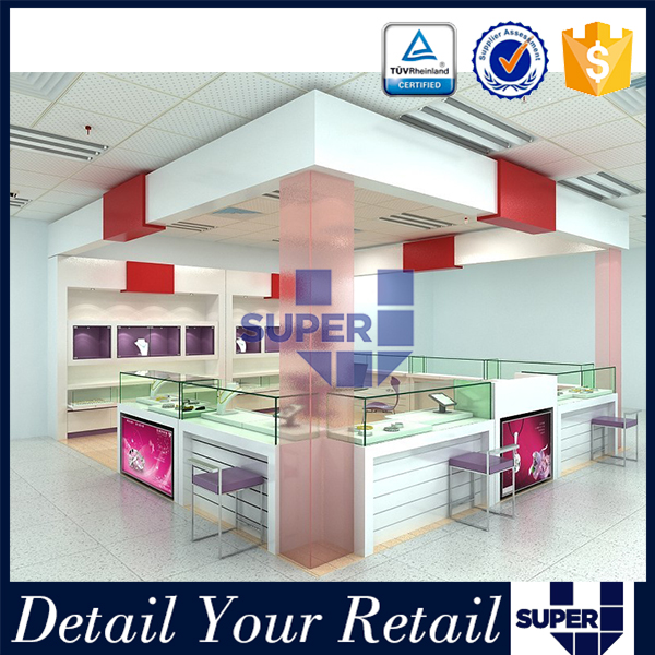 Attractive Nice Looking Clear Plexiglass Jewelry Shop Design Interior For Shopping Mall