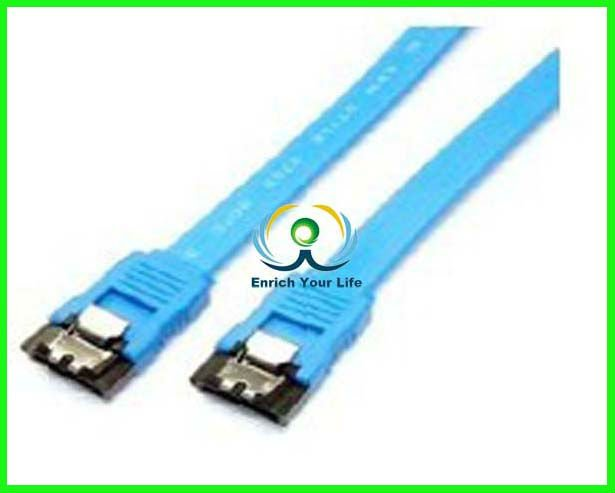 CE approved blue SATA CABLE WITH LOCK
