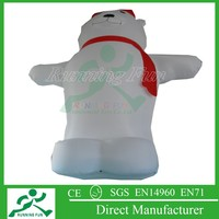 Hot sale christmas inflatable bear for adversting