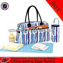 Eco friendly fake designer diaper bag DFMB-001 with EU ROHS approved