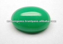 Natural Green Chrysoprase Plain Oval Cabochon Gemstone