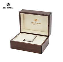 Luxury wooden watch box with wood grain paper surface