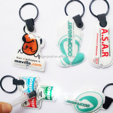 Full color Logo Printed Promotional Pvc Led Keychain