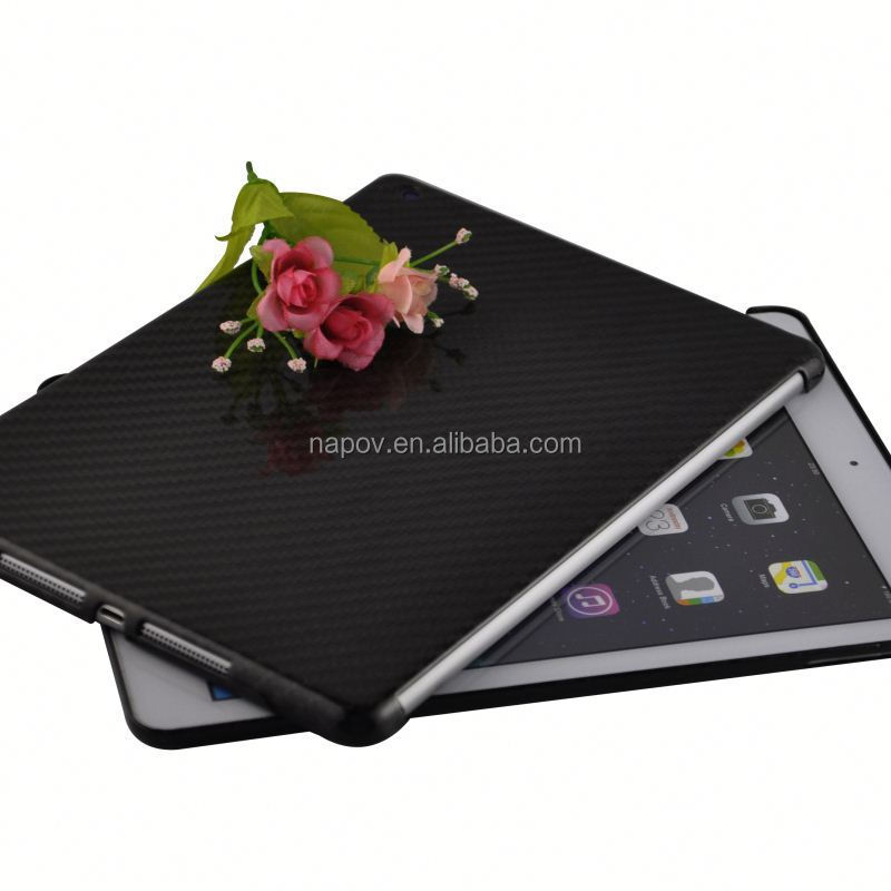 Low MOQ sell quality 3k twill glossy full carbon fiber for apple ipad air 2 128gb case