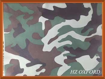 210D oxford PU waterproof camouflage fabric for hunting