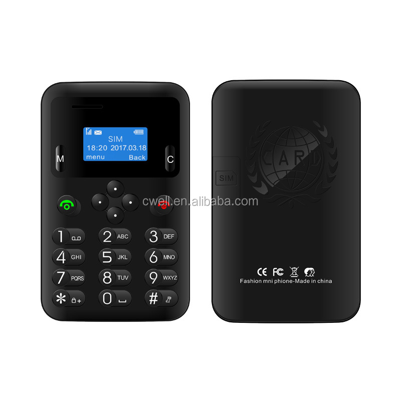 iCard K3 0.96 inch LCD screen small and compact 4 colors card mobile phone