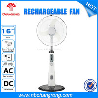 OEM & ODM Solar Power Rechargeable Oscillating Standing Fan