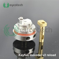 Bulk e cigarette purchase 1:1 clone rebuildable atomizer, Kayfun monster v2 Reload rda with fast shipping