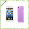 Translucent Clear Matte Plastic Ultra Thin Case for iPhone 5 0.3 MM