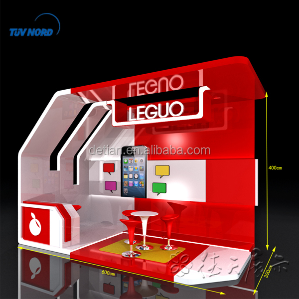 3x6m modular trade show display with free design and graphic
