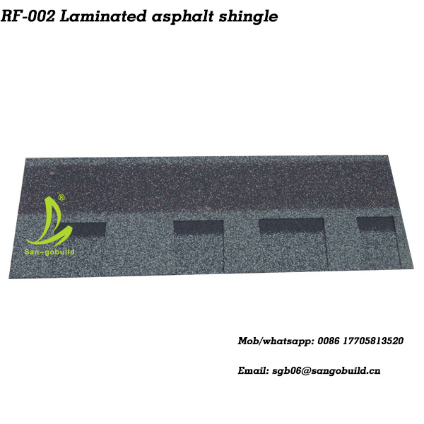 Laminated asphalt shingle(double layer asphalt roofing shingle)